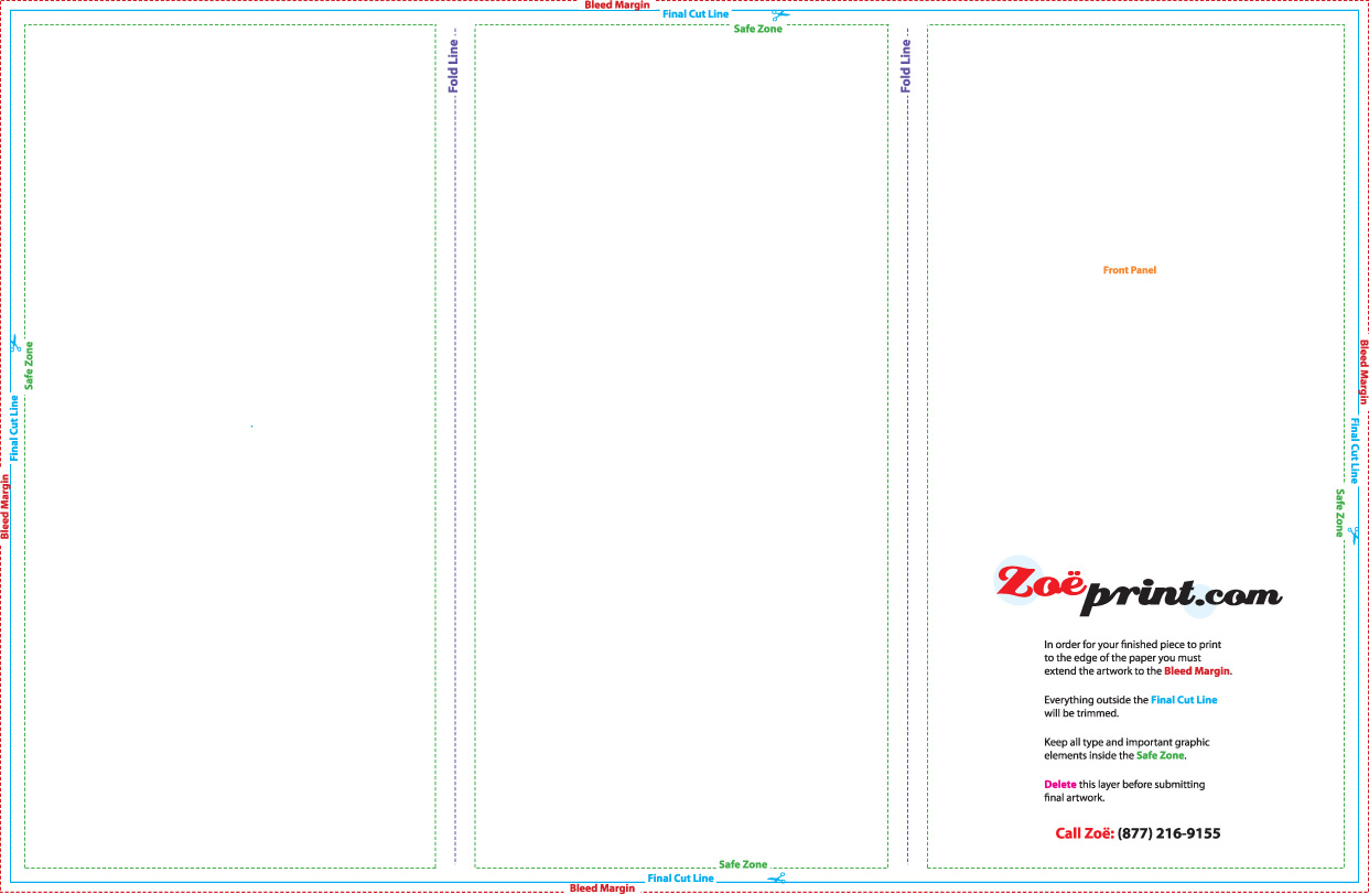 Tri Fold Z Brochure In Jpeg Format For 11x17