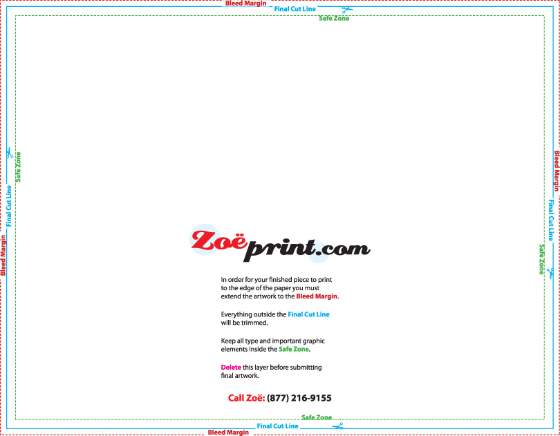Printing Templates - ZoePrint.com